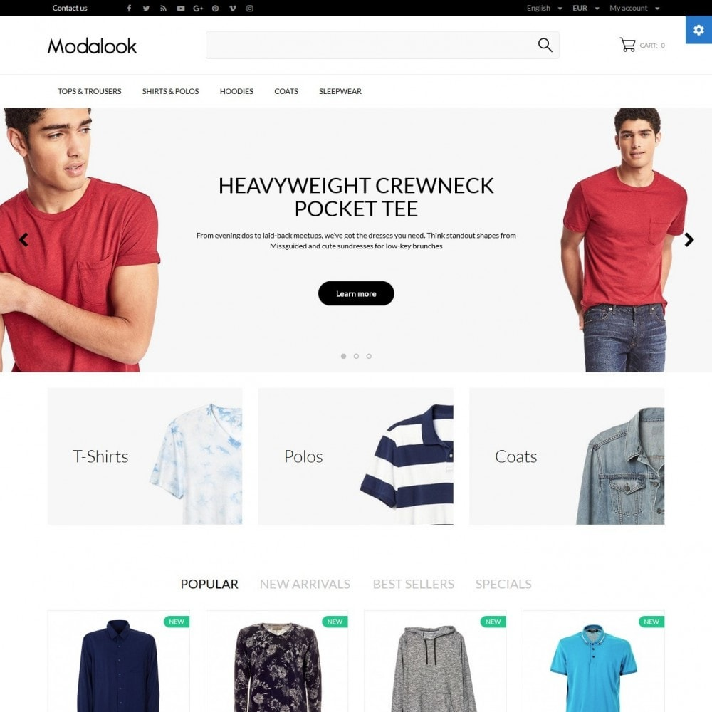 theme - Fashion & Shoes - Modalook Men's Wear - 2