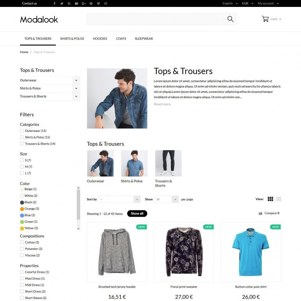 theme - Fashion & Shoes - Modalook Men's Wear - 5