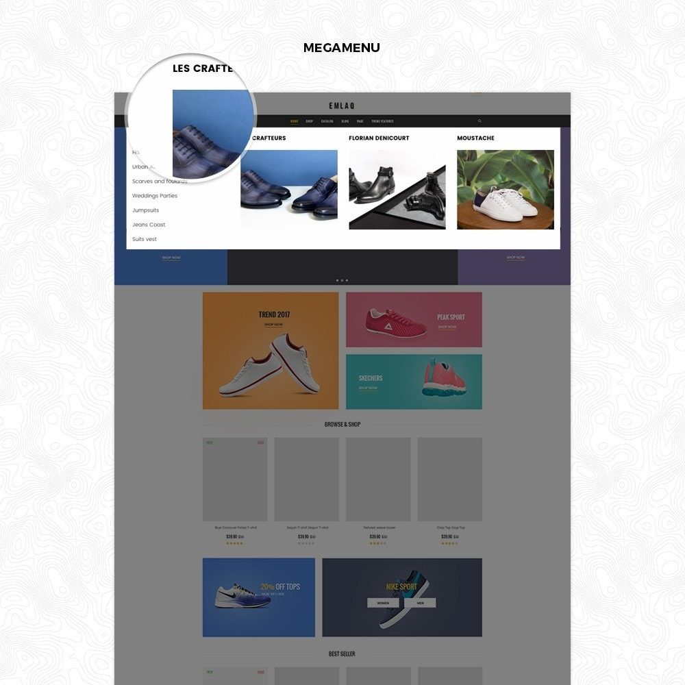 Fashion Sport Shoes Responsive Prestashop Theme 1.7