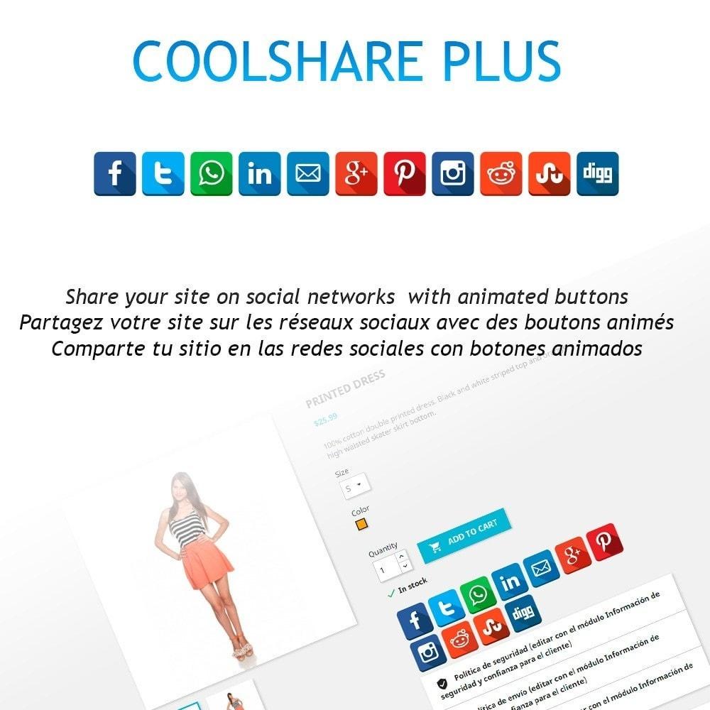 module - Compartilhamento & Comentários - CoolShare Plus Social networks - 1