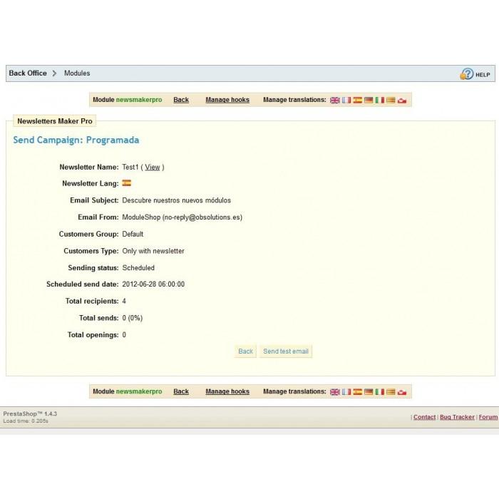 module - Boletim informativo & SMS - Newsletter Maker Pro - 10