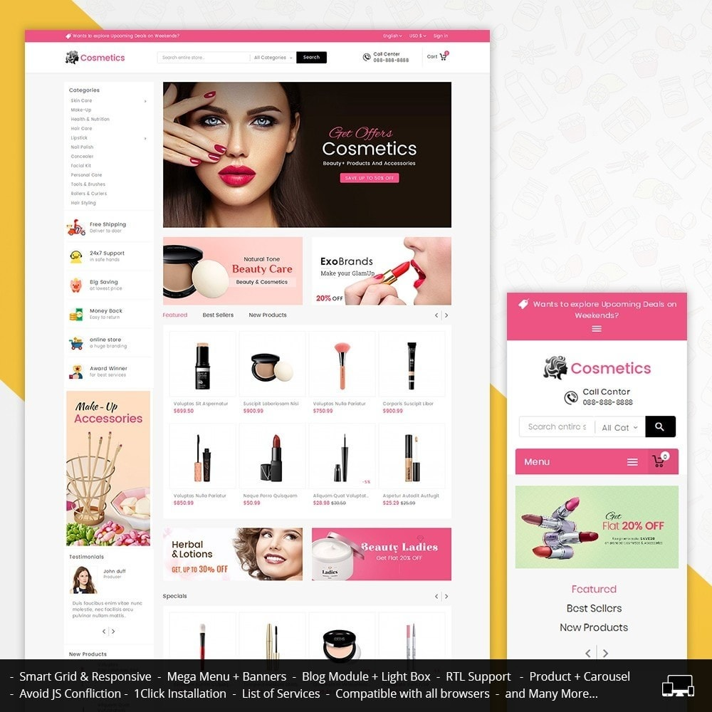 theme - Salud y Belleza - Mega Cosmetics - 1