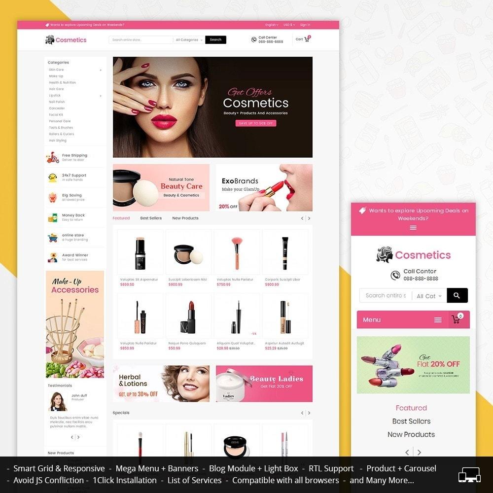 theme - Saúde & Beleza - Mega Cosmetics - 1