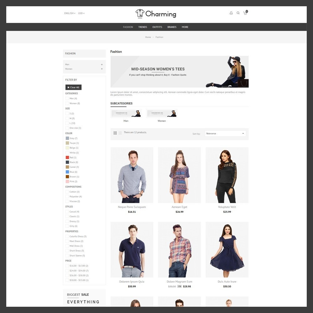 theme - Mode & Chaussures - Charming Fashion Store - 3