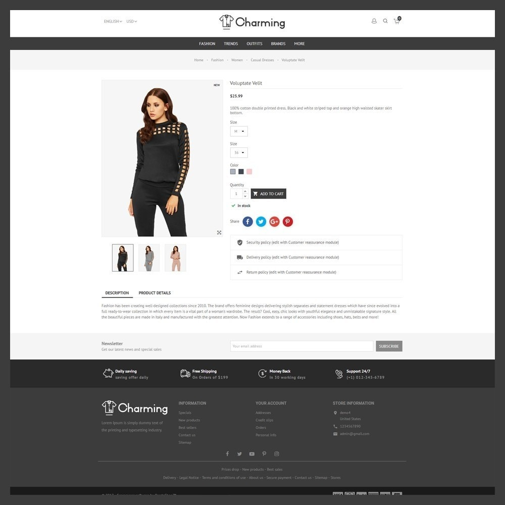 theme - Mode & Chaussures - Charming Fashion Store - 7