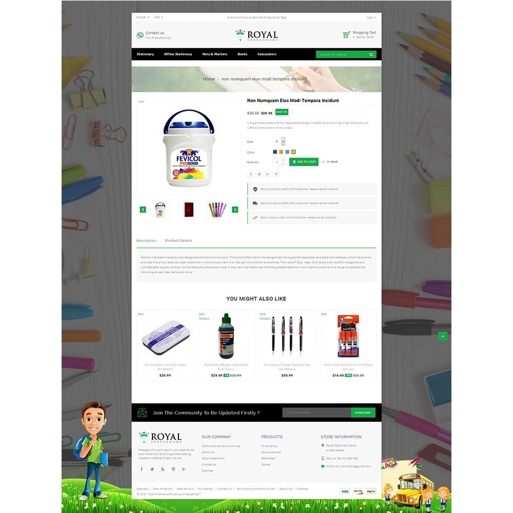 theme - Kinder & Spielzeug - Royal Stationary store - 5