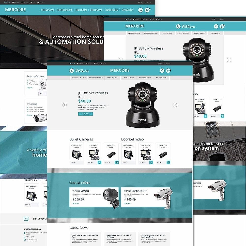Mercore - шаблон по продаже средств безопасности