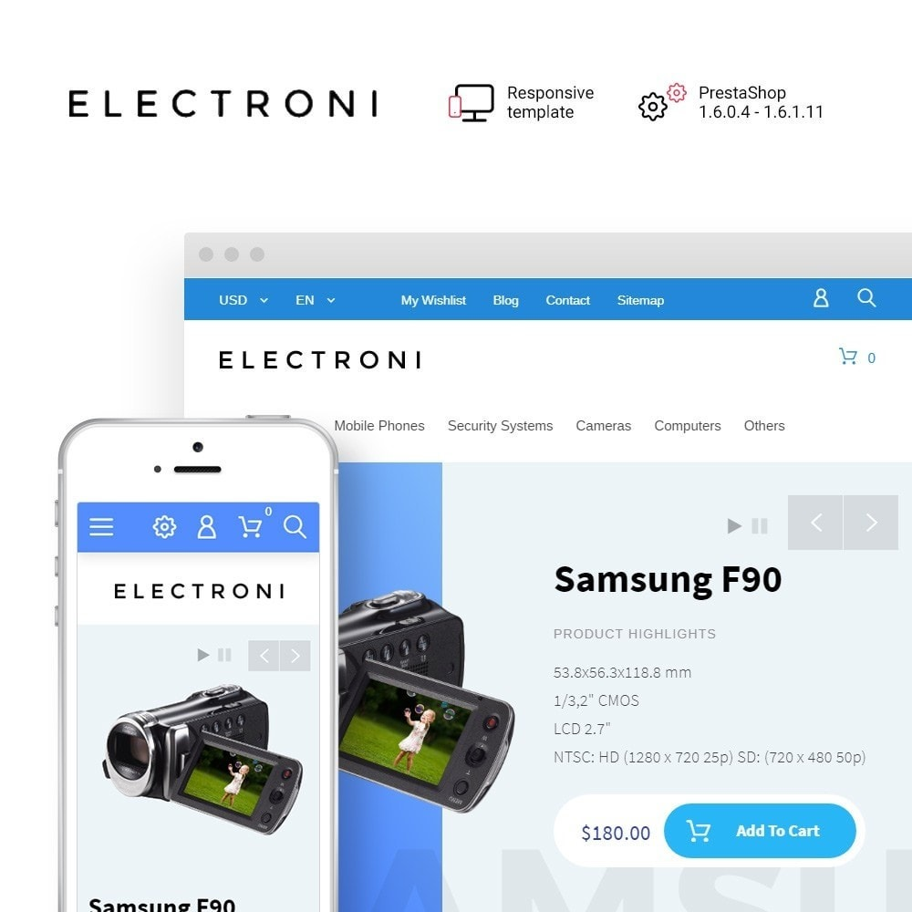 Electroni - Electronic Devices PrestaShop Theme