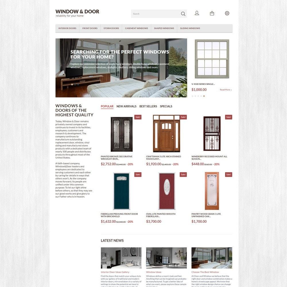 Window Door PrestaShop шаблон по продаже окон и дверей