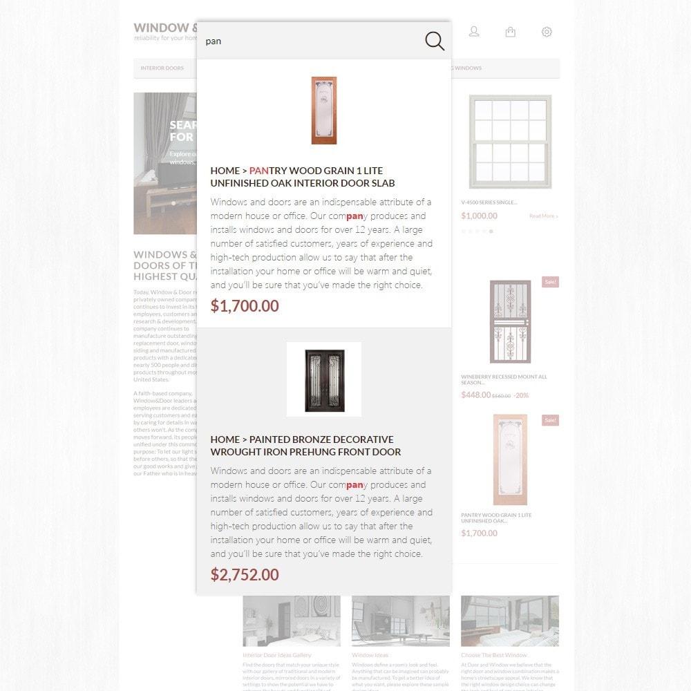 Modello PrestaShop Bootstrap per Un Sito di Finestre