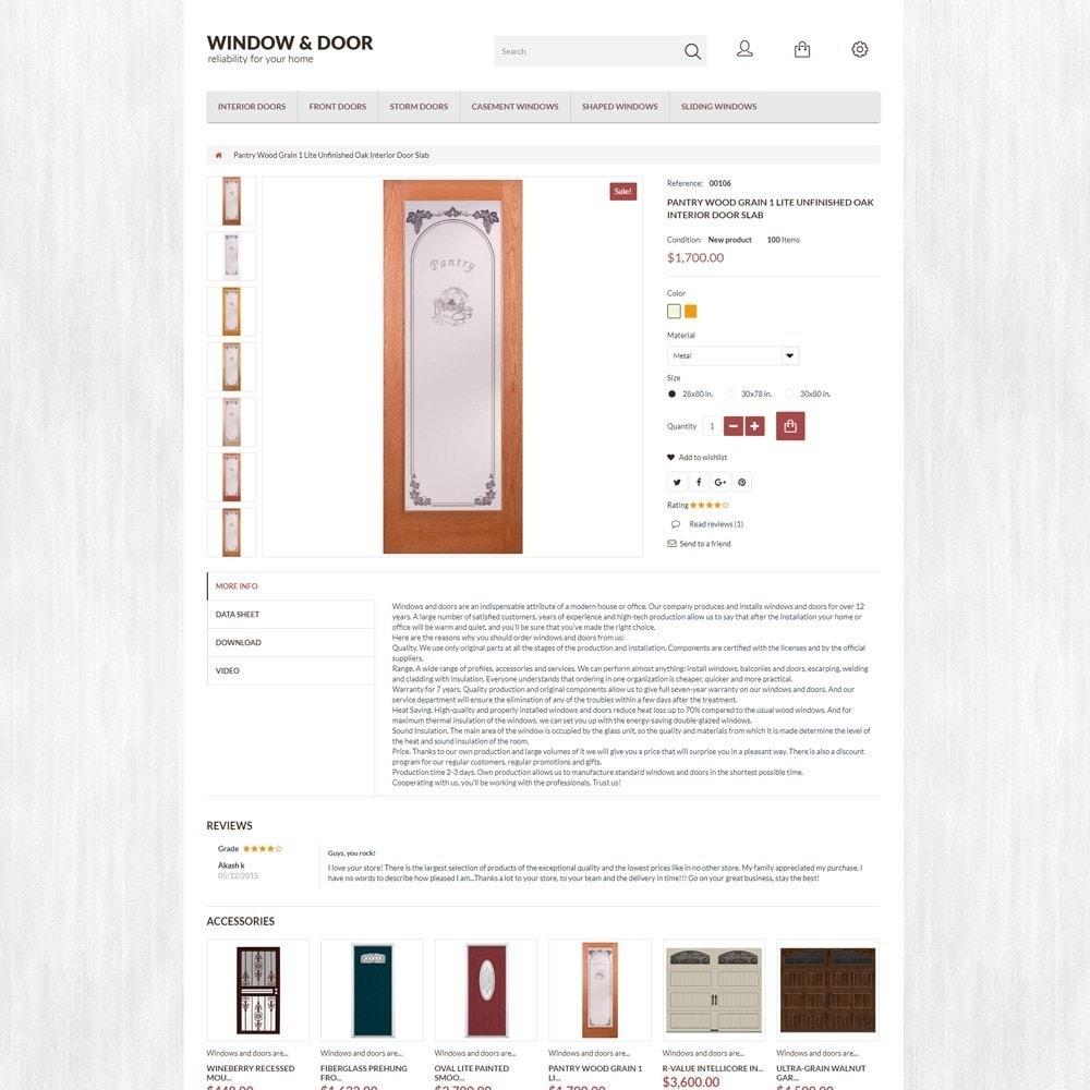theme - Casa & Giardino - Modello PrestaShop Bootstrap per Un Sito di Finestre - 5