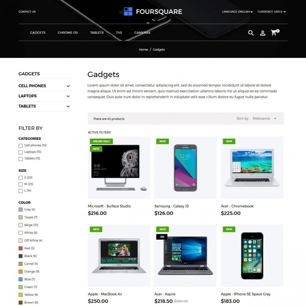 theme - Электроника и компьютеры - Foursquare - High-tech Shop - 5