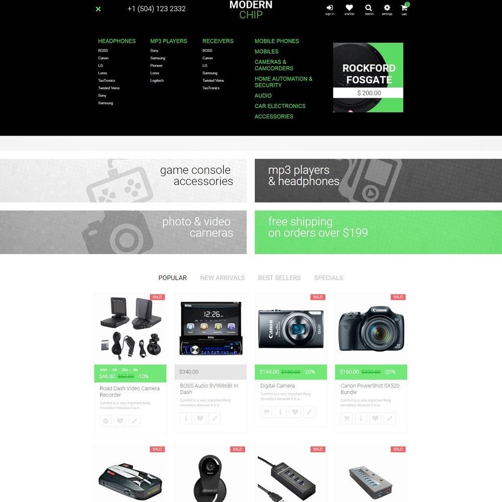 theme - Electrónica e High Tech - Modern Chip para Sitio de Tienda de Ordenadores - 3