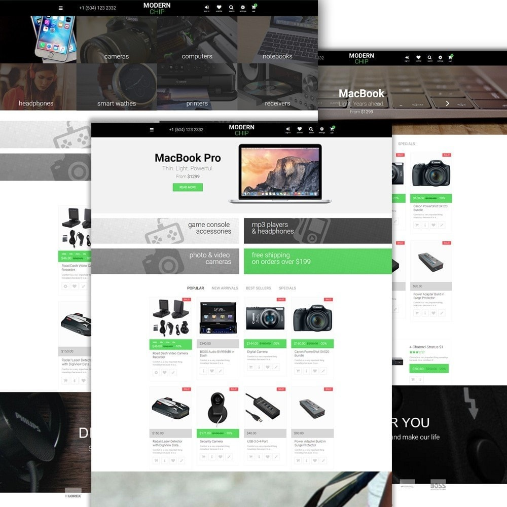 theme - Elettronica & High Tech - Modern Chip - Elettronica Tema PrestaShop Responsive - 2