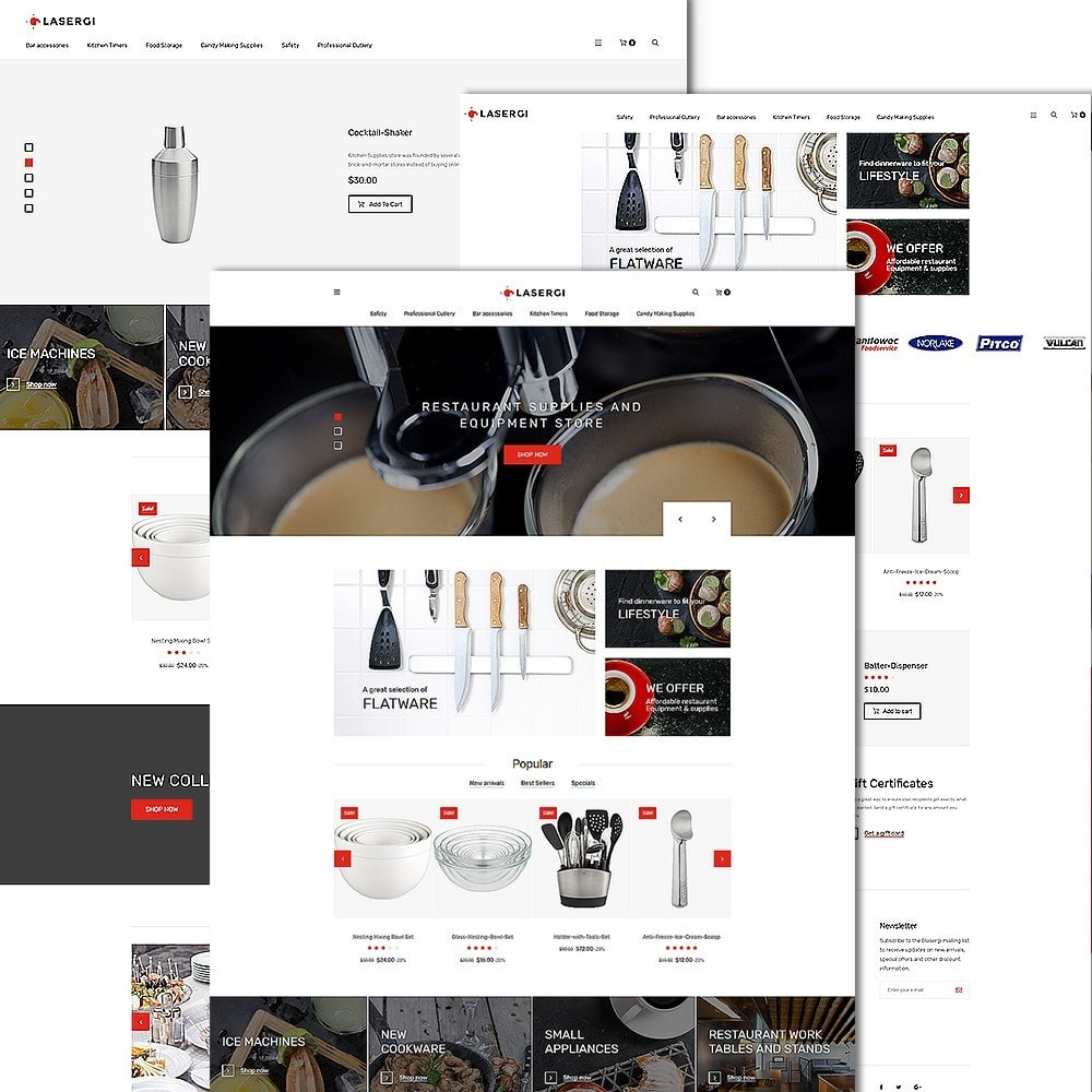 theme - Food & Restaurant - Glasergi - Cookware & Appliances PrestaShop Theme - 2