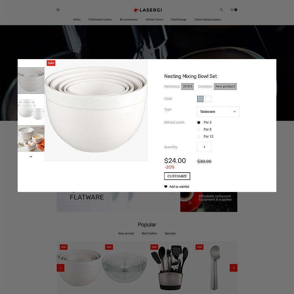 Glasergi - Cookware & Appliances PrestaShop Theme