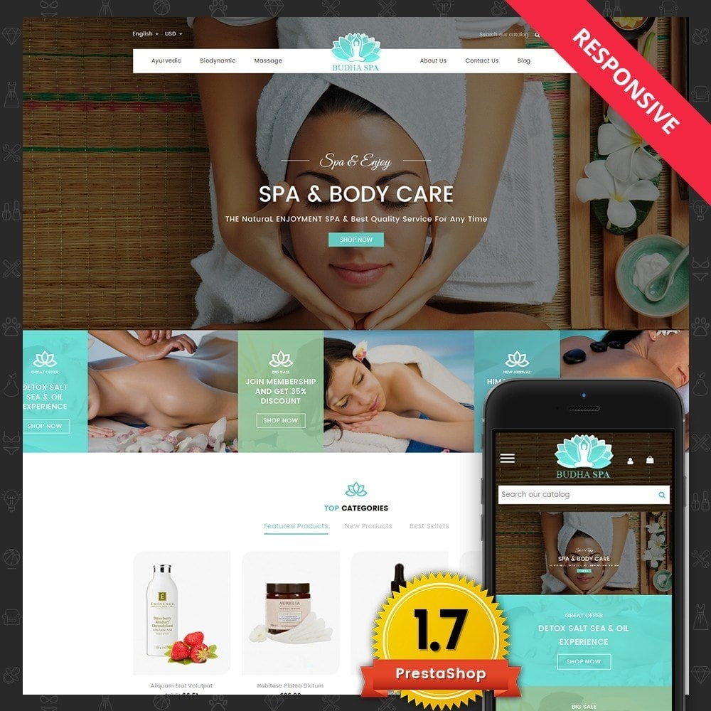 theme - Health & Beauty - Budha Spa - 1