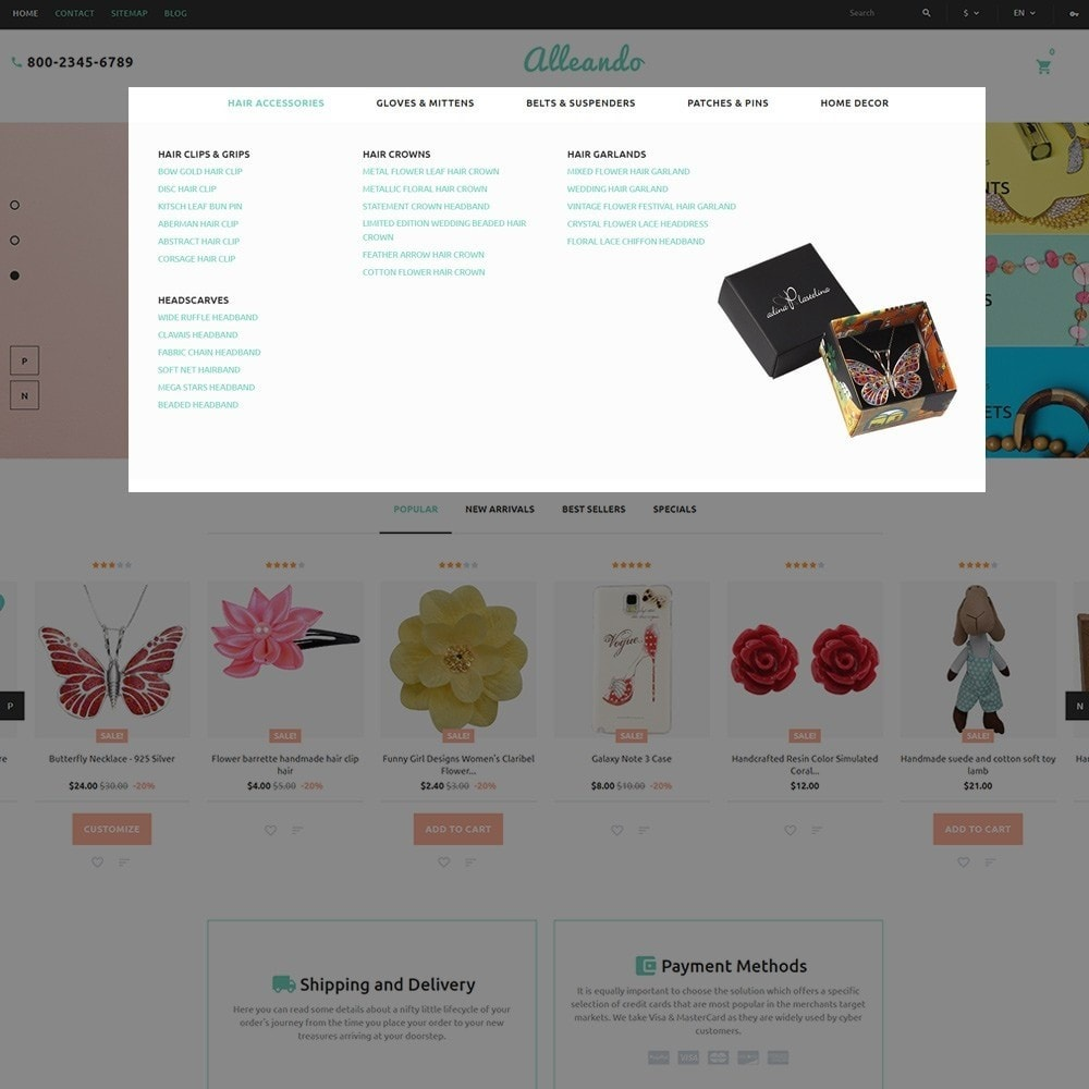 theme - Presentes, Flores & Comemorações - Alleando - Decor Accessories PrestaShop Theme - 4