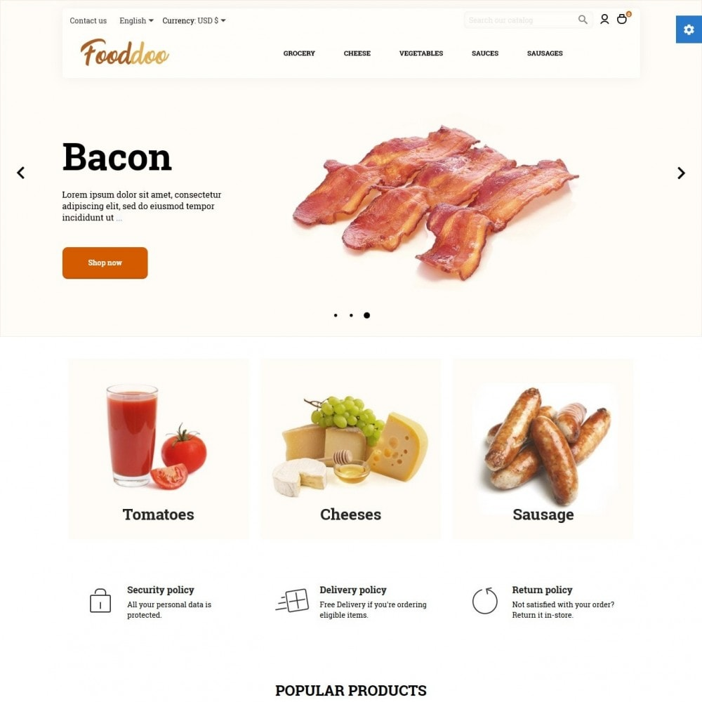 theme - Food & Restaurant - Fooddoo - 2