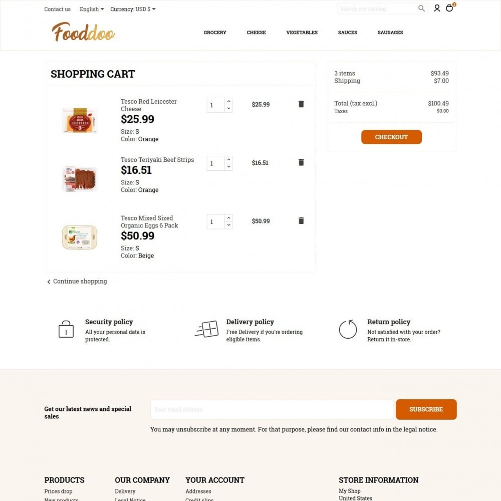 theme - Eten & Restaurant - Fooddoo - 8