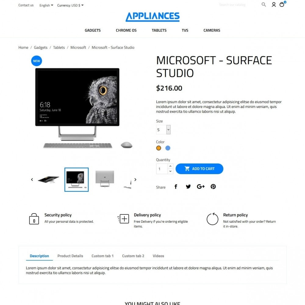 theme - Электроника и компьютеры - Appliances - High-tech Shop - 6