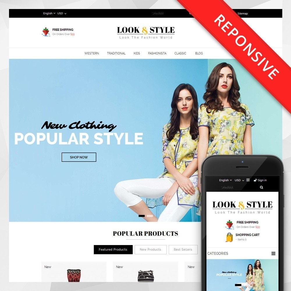 theme - Fashion & Shoes - Look & Style - Fashion Store - 1