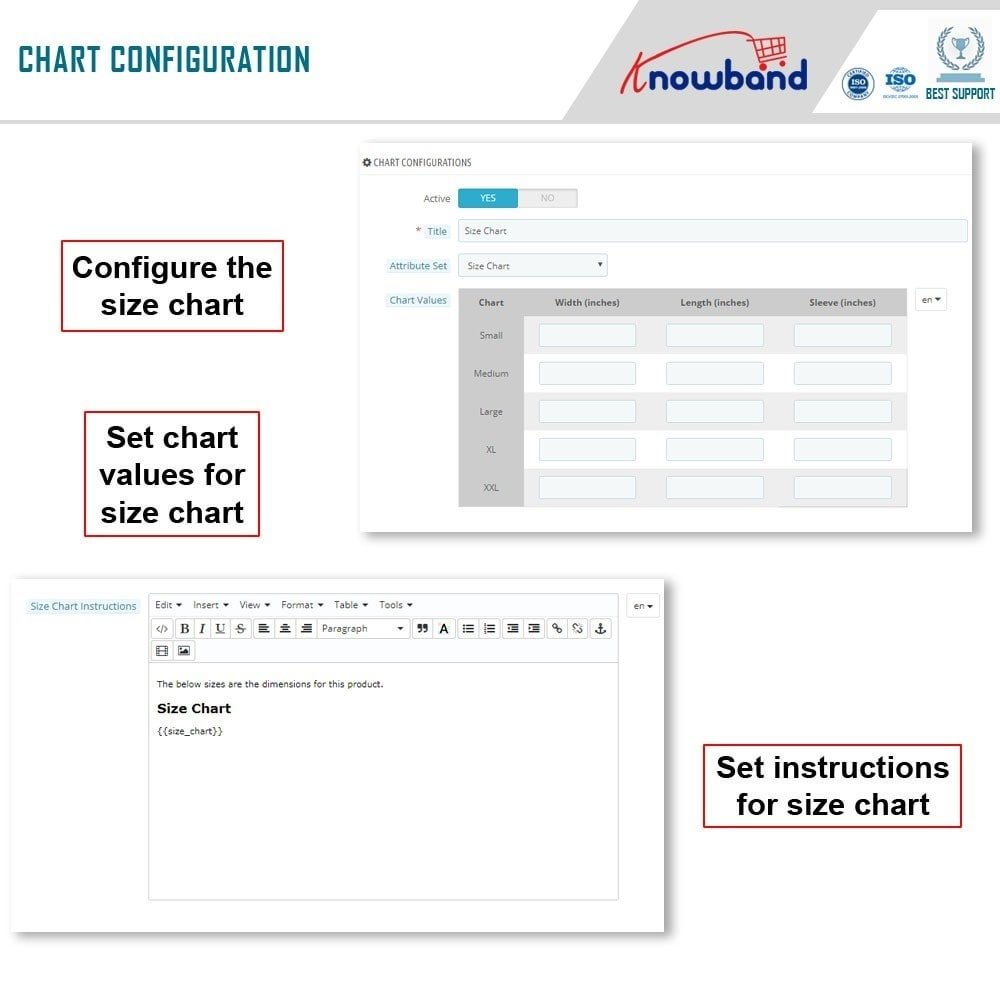 module - Altre informazioni & Product Tab - Knowband - Product size chart - 6