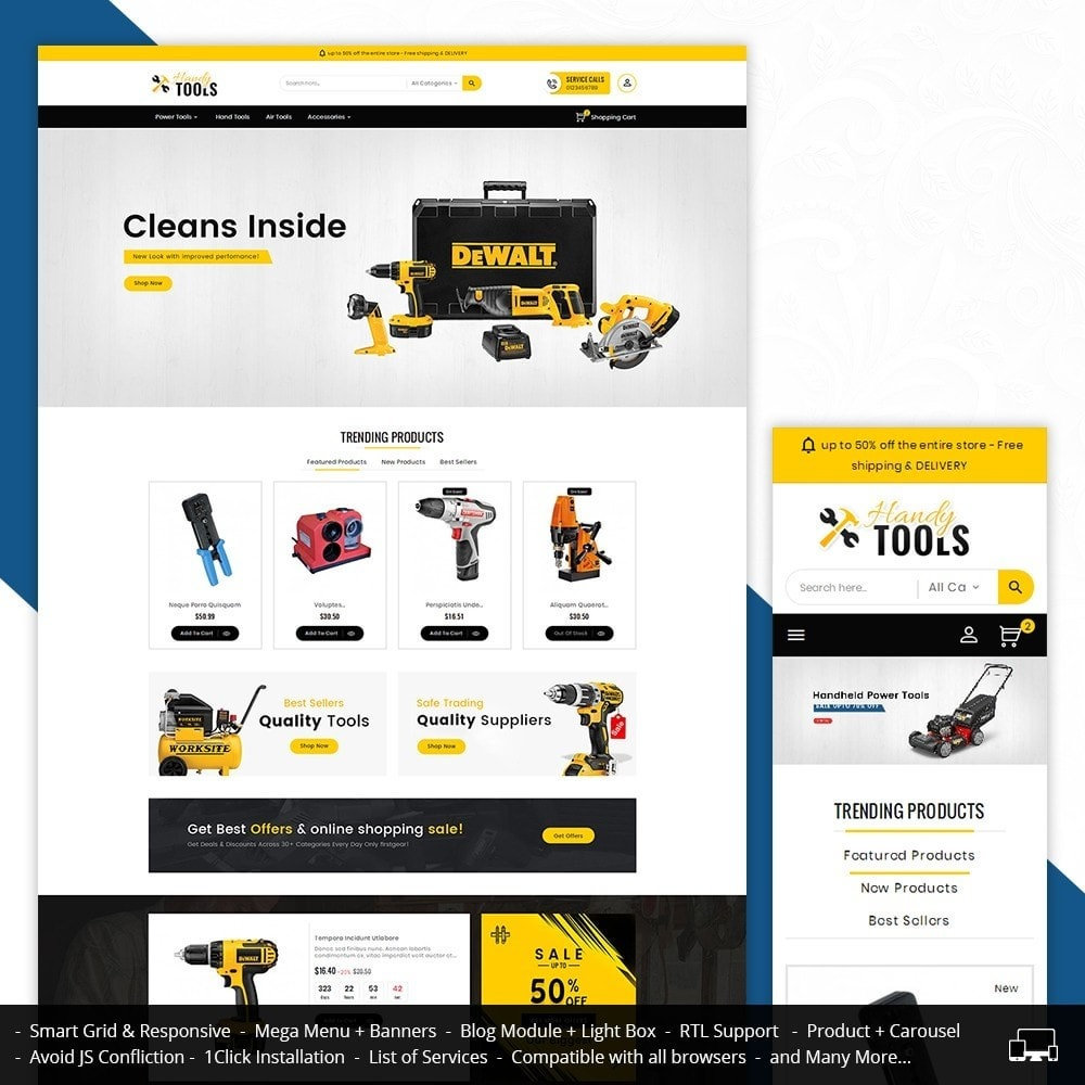 theme - Eletrônicos & High Tech - Handy Tools Store - 1