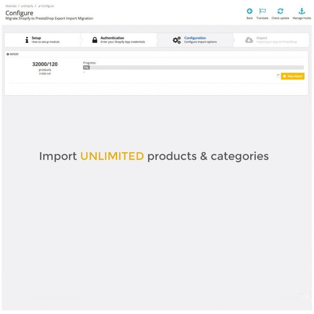 module - Data Migration & Backup - Migrate Shopify to PrestaShop Export Import Migration - 4
