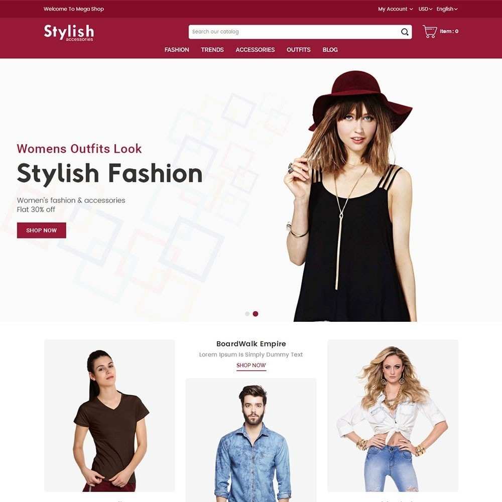 theme - Мода и обувь - Stylish Fashion Store - 2