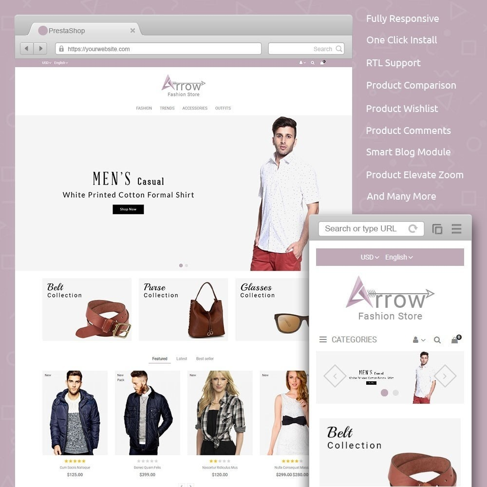 theme - Fashion & Shoes - Arrow Fashion Store - 1