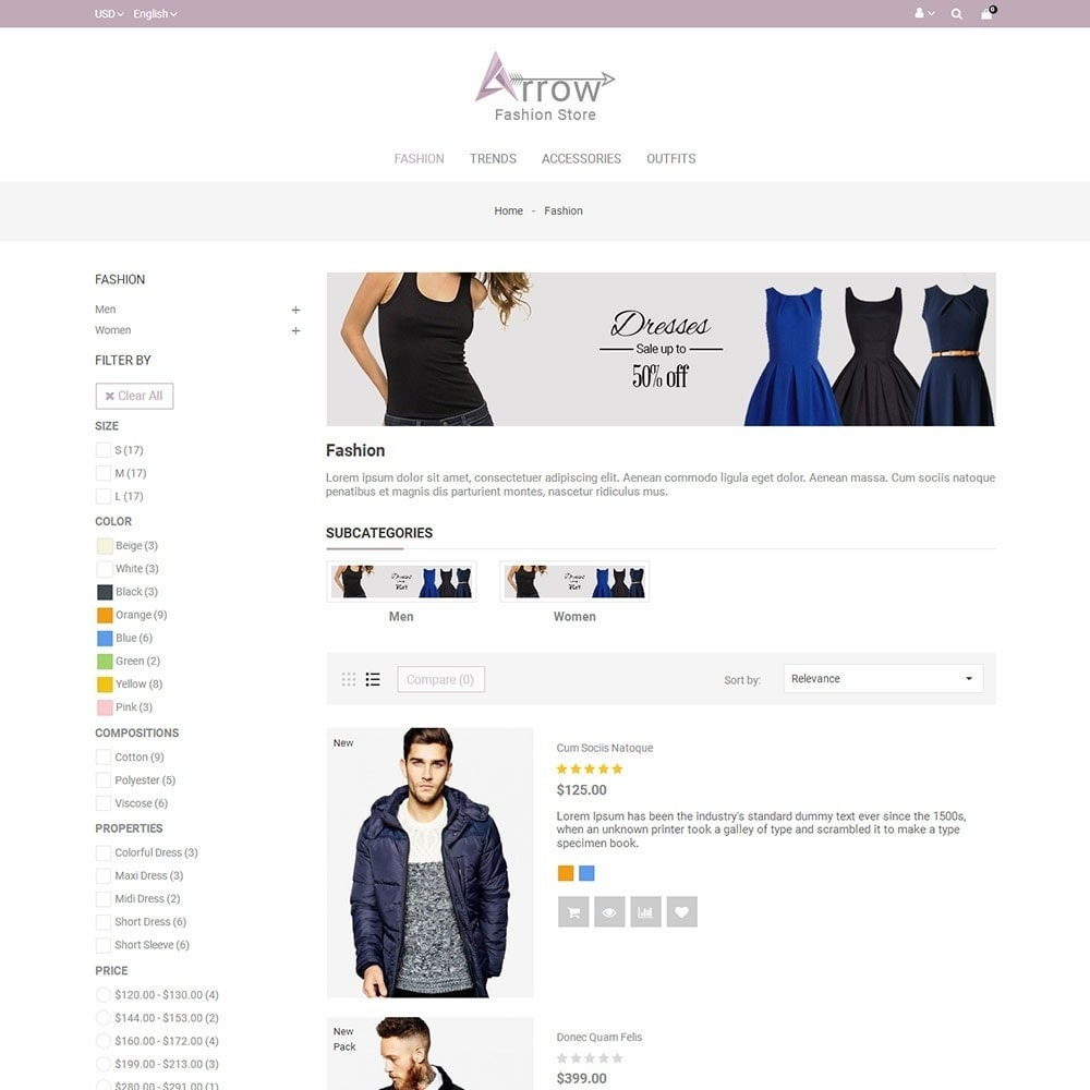theme - Fashion & Shoes - Arrow Fashion Store - 4