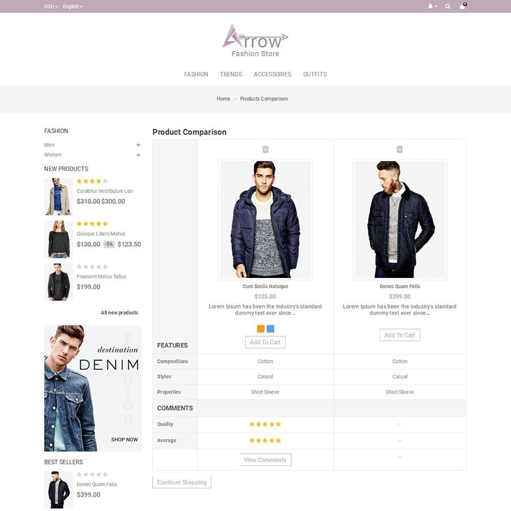 theme - Fashion & Shoes - Arrow Fashion Store - 7