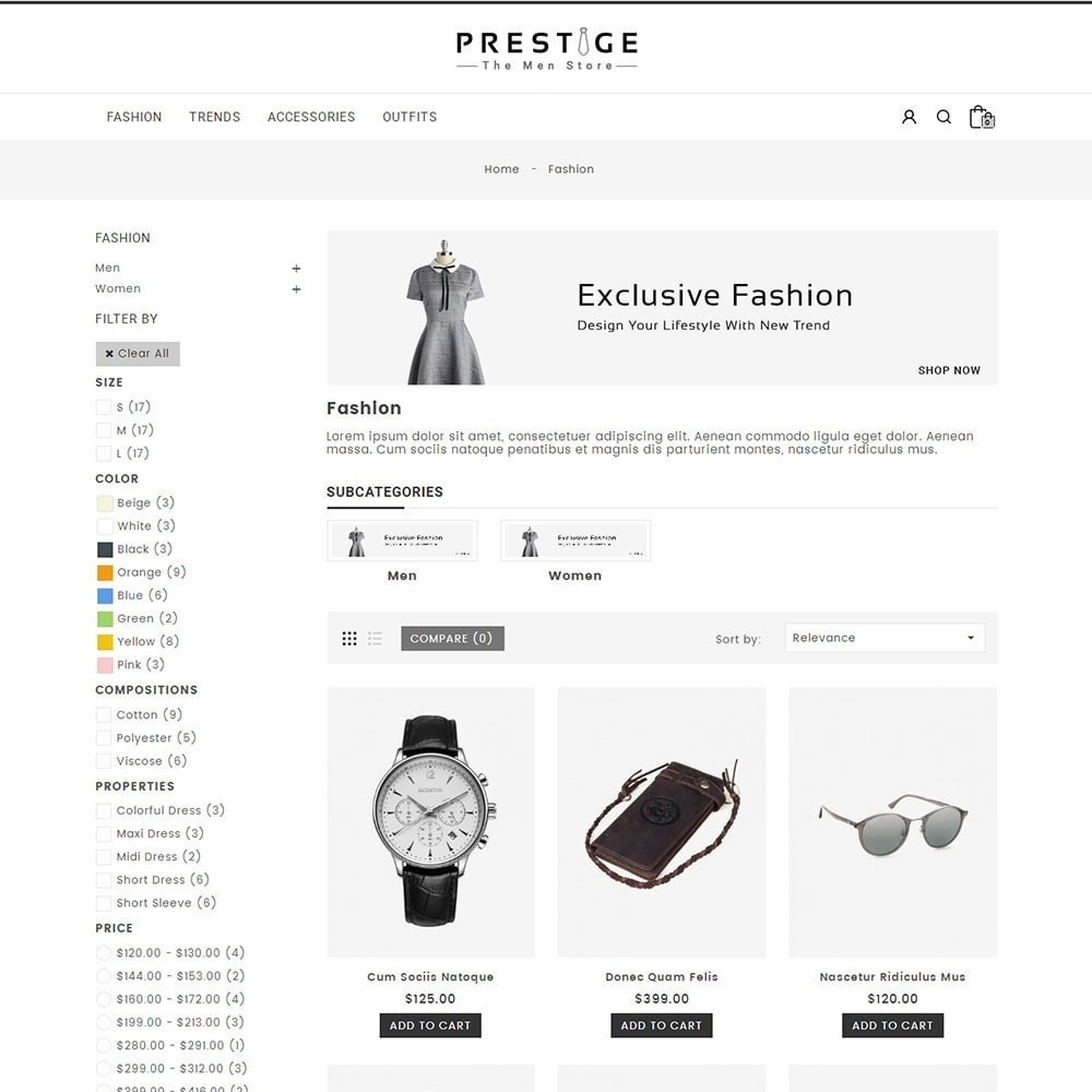 theme - Fashion & Shoes - Prestige Fashion Store - 3