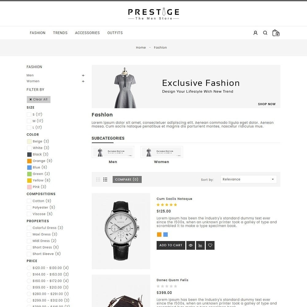 theme - Mode & Chaussures - Prestige Fashion Store - 4