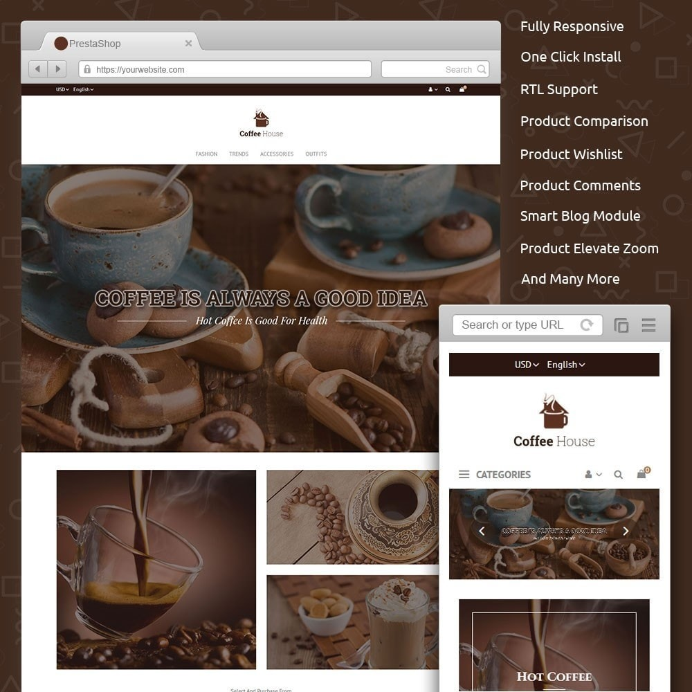 theme - Продовольствие и рестораны - Coffee House Store - 1