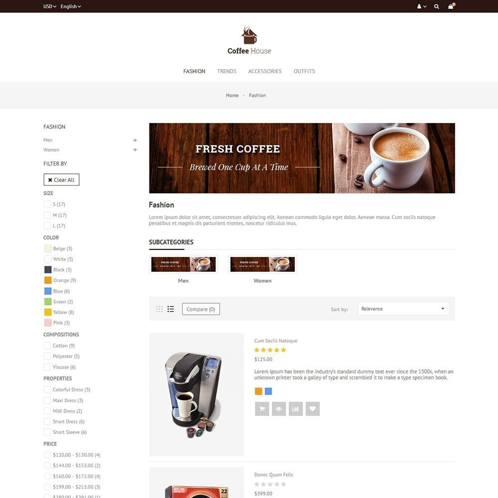 theme - Продовольствие и рестораны - Coffee House Store - 4