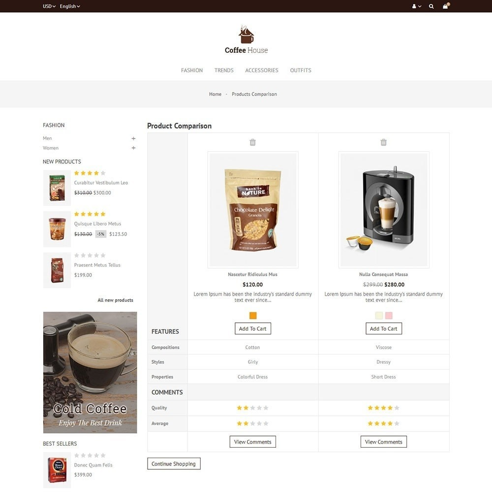 theme - Alimentation & Restauration - Coffee House Store - 7