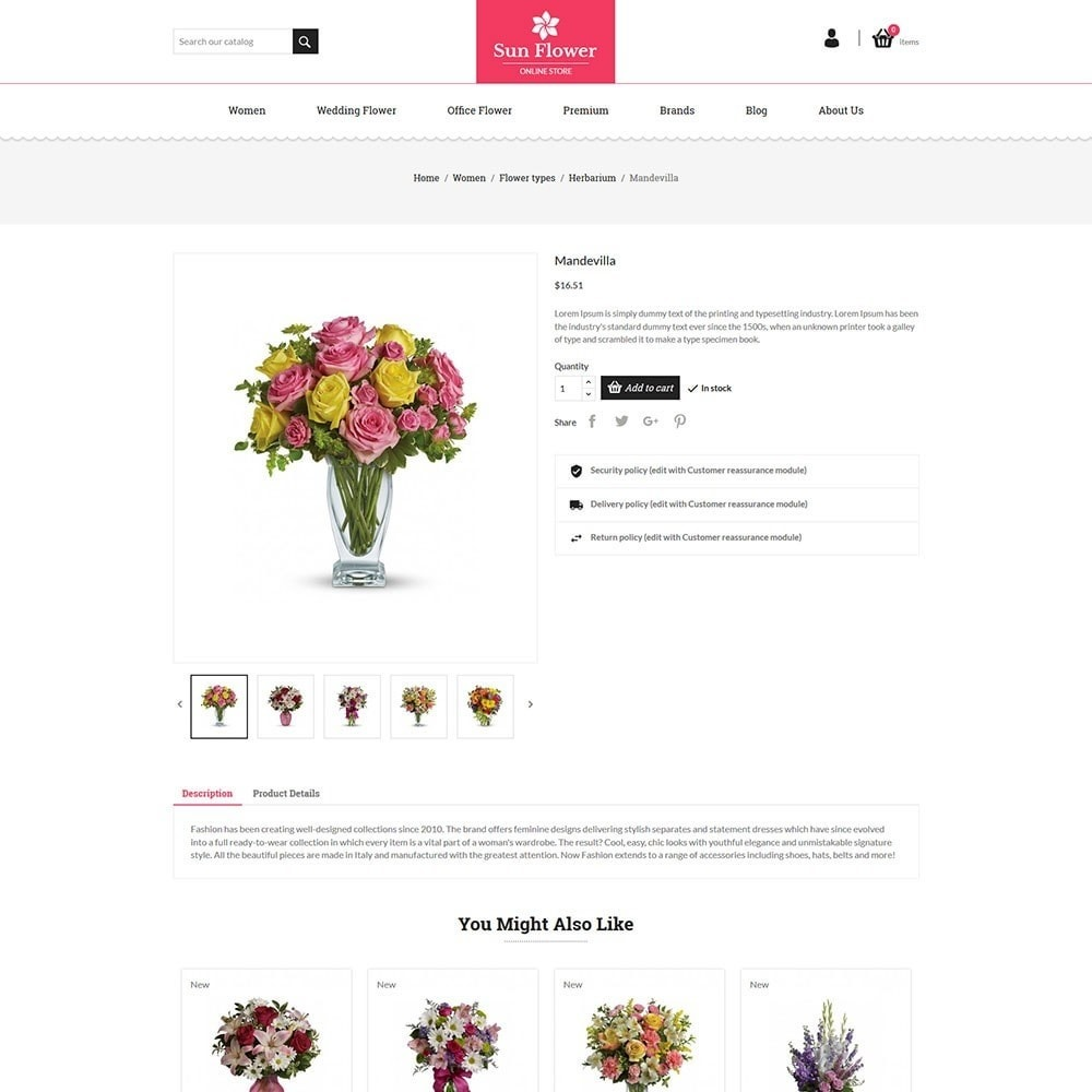 theme - Gifts, Flowers & Celebrations - Flower Store - 5