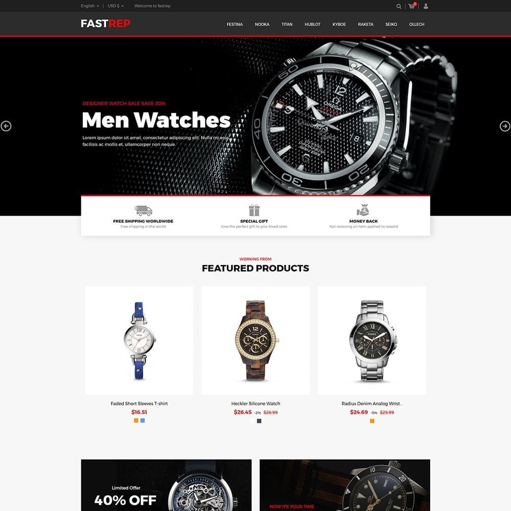 theme - Mode & Chaussures - Fasttrep - Watch Store - 2
