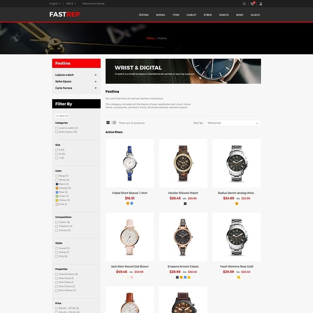 theme - Мода и обувь - Fasttrep - Watch Store - 3