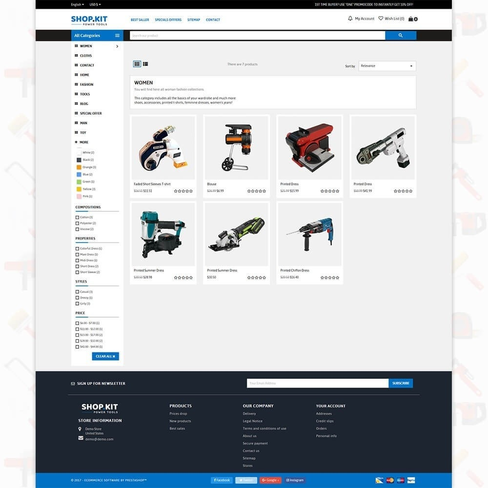Shopkit Power Tools Store
