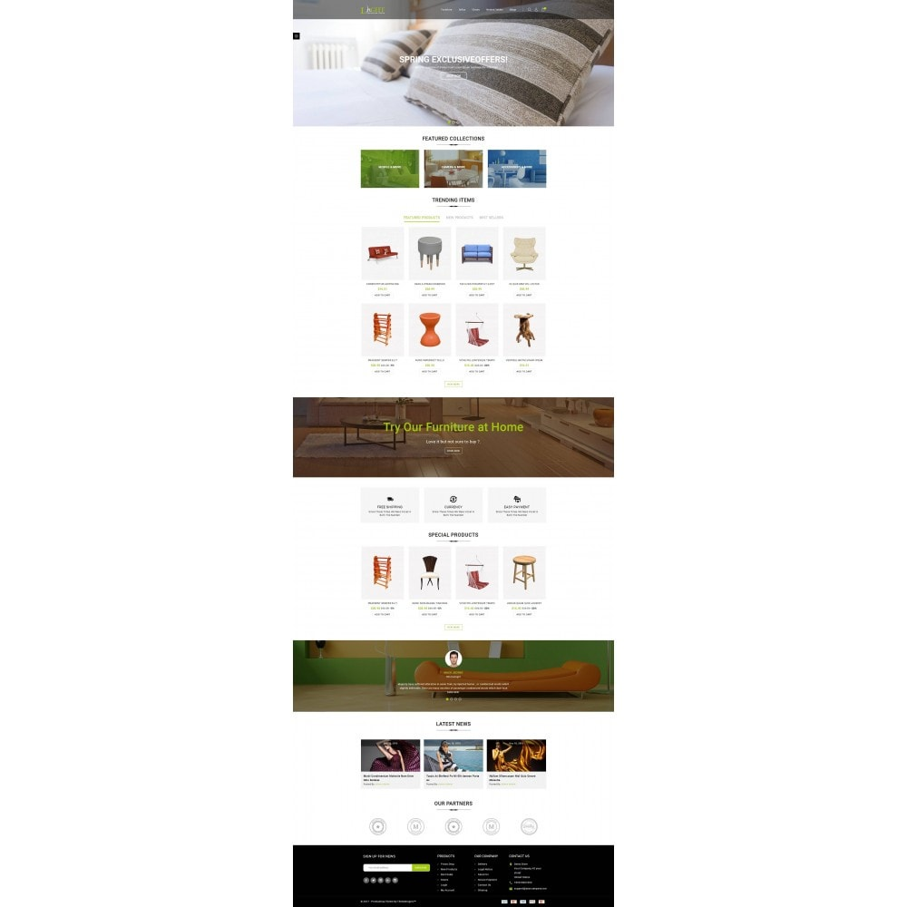 Light - Furniture Store Template