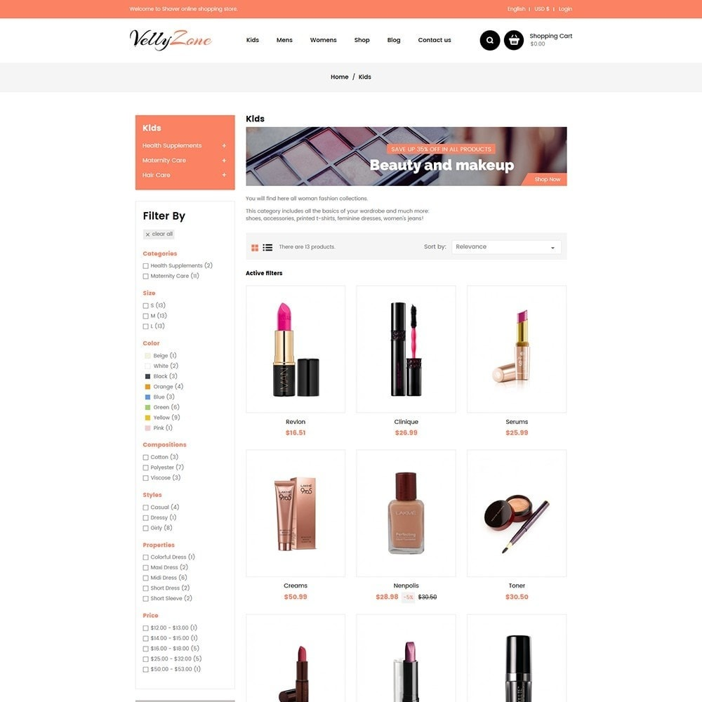 theme - Health & Beauty - Vellyzone - Cosmetics  Store - 3