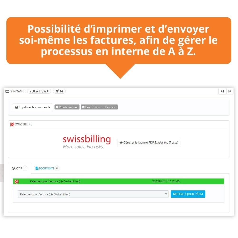 module - Paiement par Facture - Swissbilling - Paiement par facture - 8