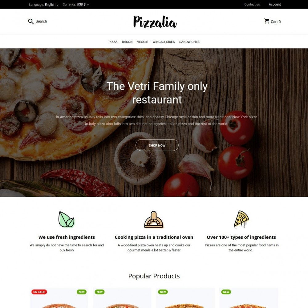 theme - Eten & Restaurant - Pizzalia - 2