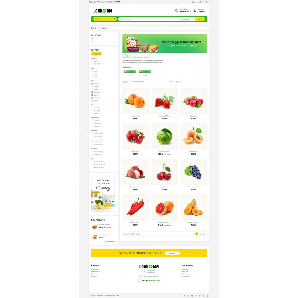 theme - Alimentation & Restauration - Look me Grocery Food - 3