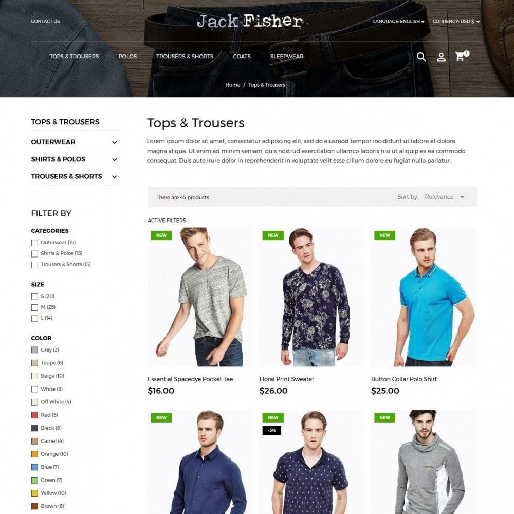 theme - Moda & Calzature - Jack Fisher Men's Wear - 5