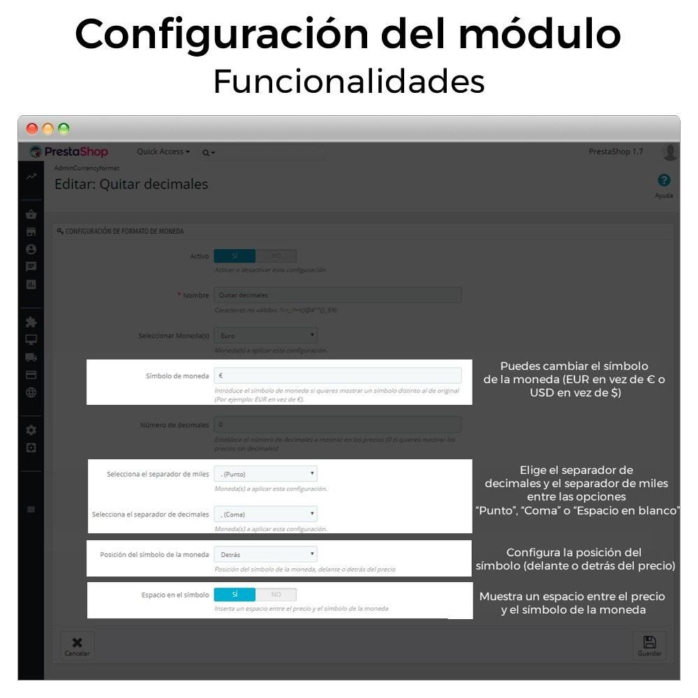module - Gestión de Precios - Formato de moneda y modificación de decimales - 6