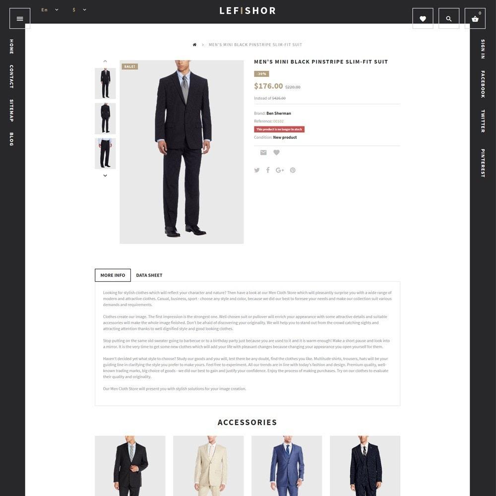 Lefishor - Tema de PrestaShop para Sitio de Moda